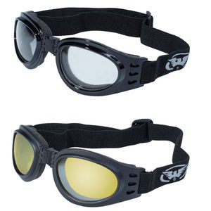 2 Motorcycle Goggles Yellow Clear Bing Cruiser NWT